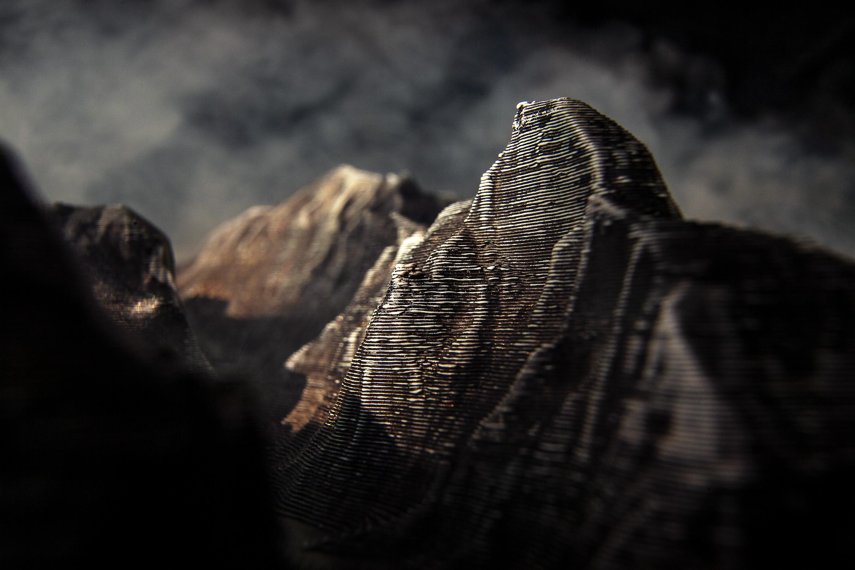 Edward Bateman, Half Dome No. 2 (with 3D printed landscape)
